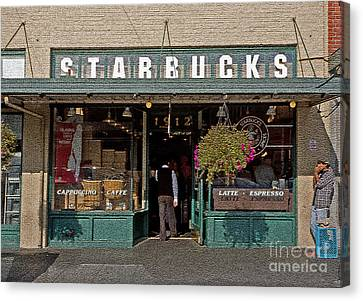 0370 First Starbucks Canvas Print