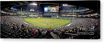 0434 Safeco Field Panoramic Canvas Print by Steve Sturgill