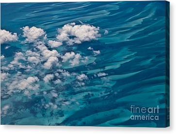 0458 Above The Caribbean Canvas Print by Steve Sturgill