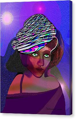 049 - She Came At Midnight  Canvas Print by Irmgard Schoendorf Welch