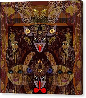 054 - Demons  Canvas Print by Irmgard Schoendorf Welch