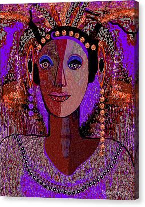 072 -  Exotic  Lady Violet   Canvas Print