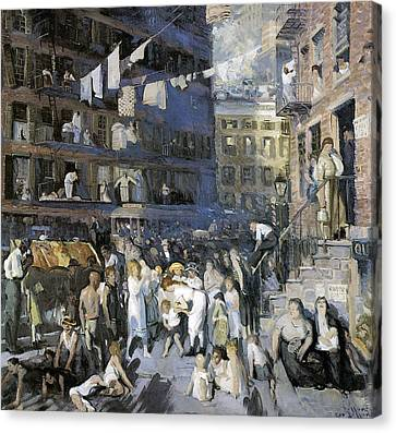 Cliff Dwellers New York City Canvas Print by George Wesley Bellows
