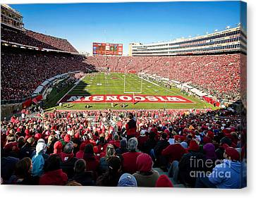 0814 Camp Randall Stadium Canvas Print