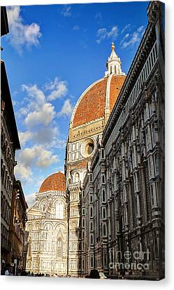 0821 The Basilica Of Santa Maria Del Fiore - Florence Italy Canvas Print by Steve Sturgill