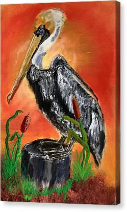 082914 Pelican Louisiana Pride Canvas Print