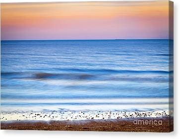 0847 Lake Michigan - Evanston Illinois Canvas Print by Steve Sturgill