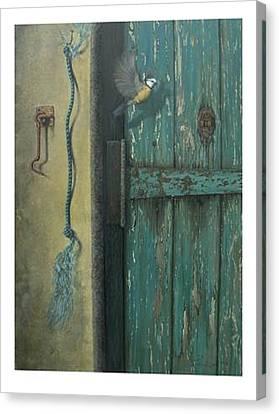0ld Door Canvas Print by Steven Wood