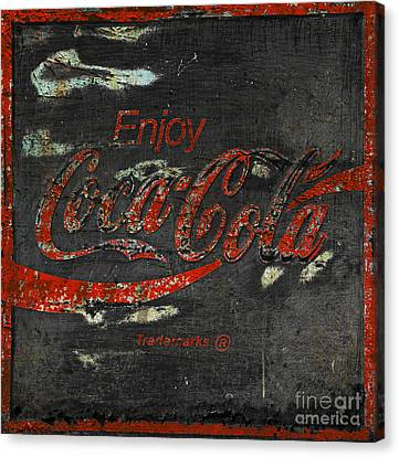 Coca Cola Sign Grungy  Canvas Print by John Stephens