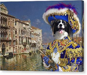 Papillon Dog - Continental Toy Spaniel Art Canvas Print Canvas Print by Sandra Sij