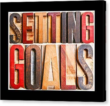 Setting Goals Canvas Print by Donald  Erickson