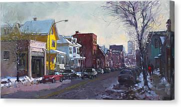 149 Elmwood Ave Savoy Canvas Print by Ylli Haruni