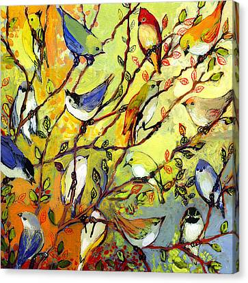 Birds Canvas Print - 16 Birds by Jennifer Lommers