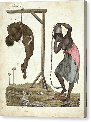 1810 Punishment Of Slaves Engraving Canvas Print by Paul D Stewart