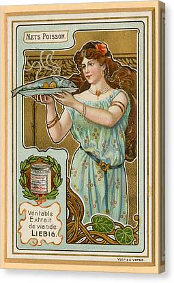 1890s France Liebig Cigarette Card Canvas Print by The Advertising Archives