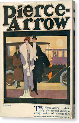 1910s Usa Pierce-arrow Magazine Advert Canvas Print by The Advertising Archives