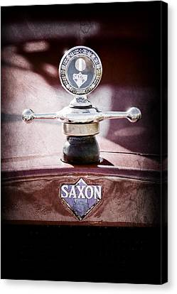 Motometer Canvas Print - 1915 Saxon Roadster Hood Ornament by Jill Reger