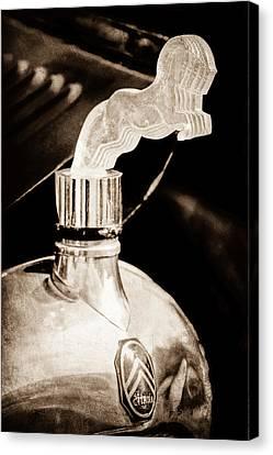 1925 Citroen Cloverleaf Hood Ornament Canvas Print by Jill Reger
