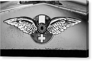 Hispano Suiza Canvas Print - 1926 Hispano-suiza H6b Torpedo Emblem by Jill Reger