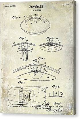 1927 Football Patent Drawing  Canvas Print