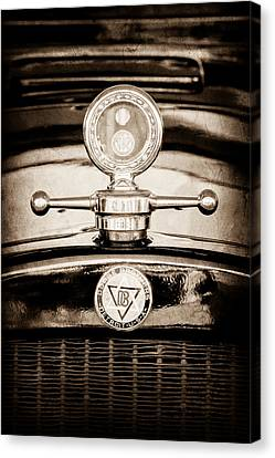 1928 Dodge Brothers Hood Ornament - Moto Meter Canvas Print