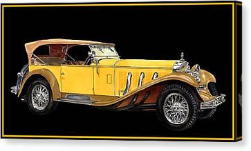 1930 Mercedes Benz Ss Tourer Canvas Print by Jack Pumphrey
