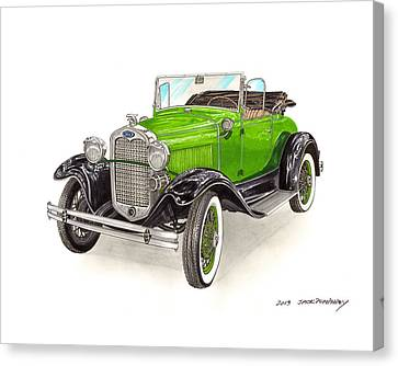 1931 Ford Model A Roadster Canvas Print by Jack Pumphrey