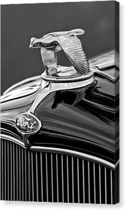1932 Ford V8 Hood Ornament Canvas Print by Jill Reger
