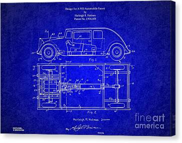 1932 Harleigh Holmes Automobile Patent Canvas Print by Doc Braham
