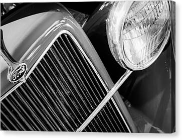 1934 Ford Pickup Truck Grille Emblem Canvas Print by Jill Reger