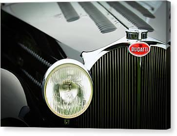 1936 Bugatti Type 57s Corsica Tourer Grille Emblem Canvas Print by Jill Reger