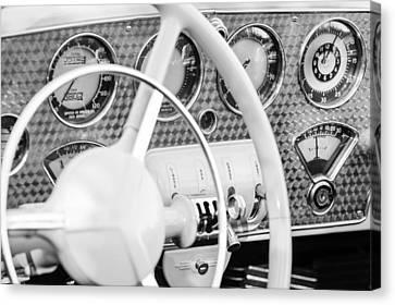1937 Cord 812 Phaeton Dashboard Instruments Canvas Print by Jill Reger