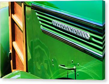 1937 International D-2 Station Wagon Side Emblem Canvas Print by Jill Reger