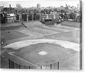 1937 Wrigley Field Scoreboard Canvas Print by Retro Images Archive
