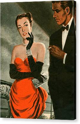 1940s Uk Woman Magazine Plate Canvas Print by The Advertising Archives