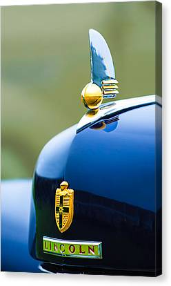 1942 Lincoln Continental Cabriolet Hood Ornament - Emblem Canvas Print by Jill Reger