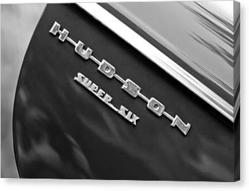 1946 Hudson Big Boy Super Six Pickup Truck Emblem Canvas Print by Jill Reger