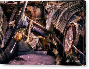 1947 Ford Super Deluxe 8 Dashboard Canvas Print by Jerry Fornarotto