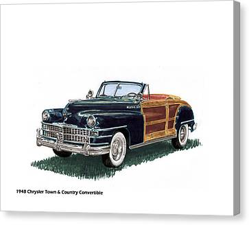 1948 Chrysler Town And Country Canvas Print by Jack Pumphrey