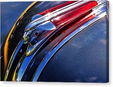 1948 Pontiac Silver Streak Hood Ornament Canvas Print by Gordon Dean II