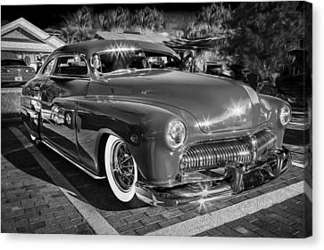 1949 Mercury Club Coupe Bw   Canvas Print