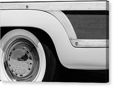 1949 Mercury Station Woodie Wagon Wheel Emblem - Hood Ornament Canvas Print