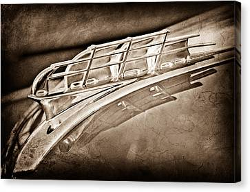 1949 Plymouth Hood Ornament Canvas Print by Jill Reger