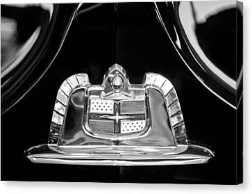 1950 Lincoln Cosmopolitan Limousine Emblem Canvas Print by Jill Reger