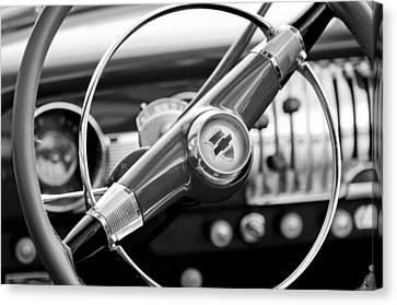 1951 Chevrolet Convertible Steering Wheel Canvas Print by Jill Reger