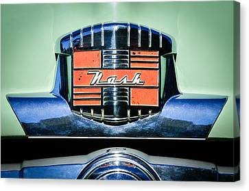 1952 Nash Rambler Greenbrier Station Wagon Emblem Canvas Print