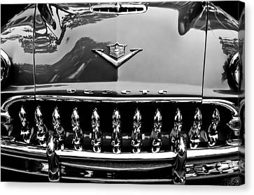 Grill Canvas Print - 1953 Desoto Firedome Convertible Grille Emblem by Jill Reger