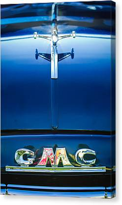 1954 Gmc Pickup Truck Hood Ornament - Emblem Canvas Print by Jill Reger