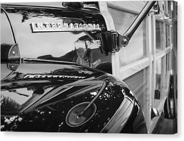 1954 International Harvester R140 Woody Wagon  Canvas Print by Jill Reger