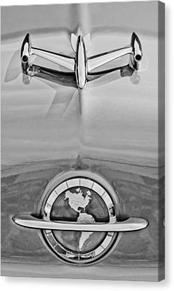 1954 Oldsmobile Super 88 Hood Ornament Canvas Print by Jill Reger